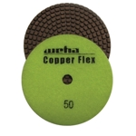 "Weha 4"" Copper Flex Diamond Polishing Pad 50 grit"
