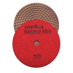 "Weha 4"" Copper Flex Diamond Polishing Pad 100 grit"