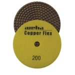 "Weha 4"" Copper Flex Diamond Polishing Pad 200 grit"
