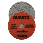 "Part#  1641500 4"" Weha Quartz Polishing Pad 1500 Geo Pattern Design"