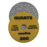 "Part#  164200 4"" Weha Quartz Polishing Pad 200 Geo Pattern Design"