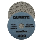 "Part#  164400 4"" Weha Quartz Polishing Pad 400 Geo Pattern Design"