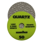"Part#  16450 4"" Weha Quartz Polishing Pad 50 Geo Pattern Design"