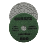 "Part#  164800 4"" Weha Quartz Polishing Pad 800 Geo Pattern Design"