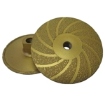 "Part#  30230 Weha 4"" Vac Brazed Flat Diamond Cupwheel - Coarse"
