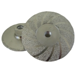 "Part#  30233 Weha 4.5"" Vac Brazed Flat Diamond Cupwheel - Medium"
