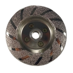"Part#  51072 4"" Vacuum Brazed Contour Cupwheel"