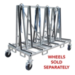 Part#  8010480 Weha Small Transport A Frame Cart Granite Transport Rack 96 inch