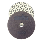 "4"" Weha Honeycomb Dry Diamond Polishing Pad - 5000 Grit"