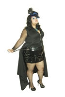 A-Rider Skirt PVC This Fully Lined Straight PVC Buckle Skirt is done in our