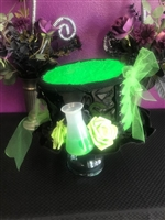 BIG TOP HAT TOXIC All Hilary's Vanity Hats are hand made by Hilary shipping can take up to 2 weeks depending of if we have to make a new one or if it is in stock.