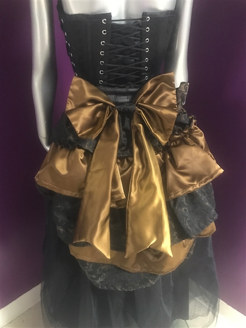 Bustle Belt Brown Swirl – The Bustle belt is the perfect accessory to giving it that Victorian flare or a more Burlesque look.