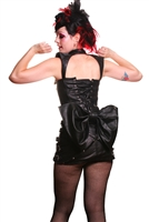 The Butt Bow Black Leather is made to be attached to Corset strings and features a Snap Enclosure. It is made of 100% Genuine Textured Leather.