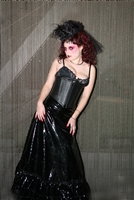 Dawn Black Leather- This Waist Cincher has Steel Boning , heavy zipper plus a Privacy Panel100% Leather and is Lined.