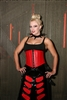 Dawn Red Leather- This Waist Cincher has Steel Boning, heavy zipper plus a Privacy Panel100% Leather and is Lined.
