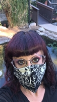 FACE MASK WHITE SKULL  ONE OF A KIND