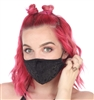 FACE MASK BLACK DAMASK
