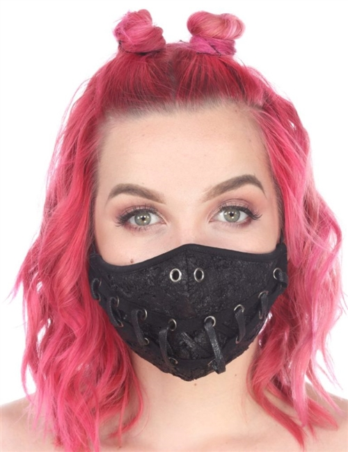 FACE MASK LACE UP SMILE