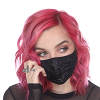 FACE MASK RIBBED PLEATHER