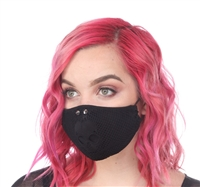 FACE MASK SKULL FISHNET OVER COTTON