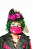This Pink PVC face Mask is a wonderful accessory for any festival or event. Look great with any costume or outfit.