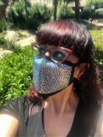 Face Mask with Rhinestones