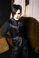 Jessie Vest Black Satin