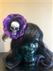 Purple Glitter Hair Flowers with Skull- This wonderful hair clip adds a splash of color to any outfit.