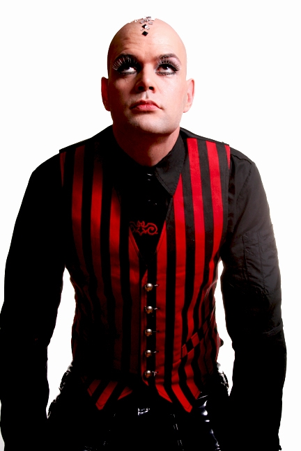 Steam Vest Red and Black - This Men's Vest is A Steampunk Victorian Vest in our Red and Black Striped fabric. It features an Adjustable Buckle on the back Side and front pockets.