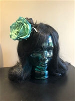 This wonderful Teal Hair Flowers  hair clip