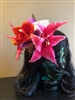 Tiki Hair Flowers with Skull 1