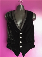 The Tony Vest in  Black Velvet and is fully lined. It features an Adjustable strap on the back and pockets. Has a 100% Polyester Lining for superior comfort.