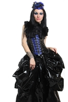 Topping  Black PVC-The Topping is made to go on top of a waist cincher or corset. Hilary has out done herself, The Topping features 360 degrees of cinching for all of your bustle needs.