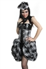 Topping  Black and White Plaid-The Topping is made to go on top of a waist cincher or corset. Hilary has out done herself, The Topping features 360 degrees of cinching for all of your bustle needs.