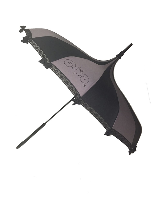 Hilary's vanity Umbrella Gray and Black