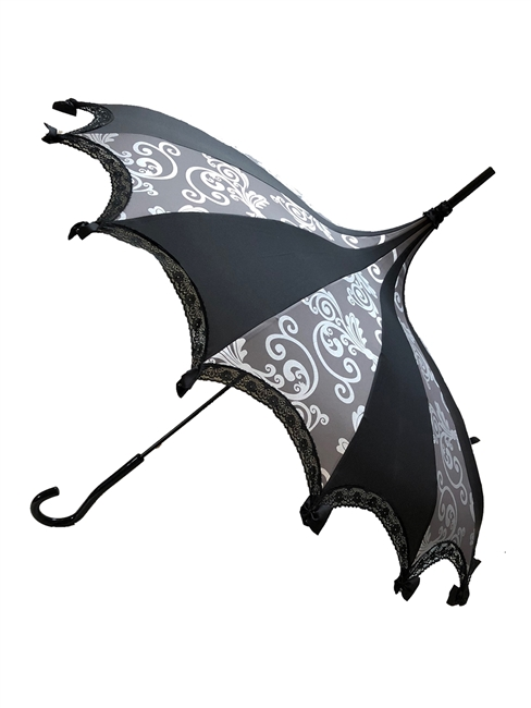 Hilary's Vanity Umbrella Gray and Silver Swirl