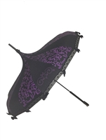 Hilary's Vanity Umbrella  Purple Swirl Damask