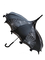 This beautiful Umbrella features white spiderwebs plus