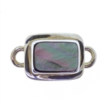 Tabra Mother of Pearl Rectangle Charm