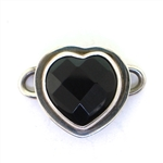 Tabra Black Onyx Heart Charm (Small)
