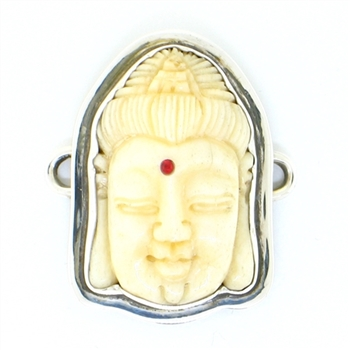 Tabra Bone Carved Buddha Charm