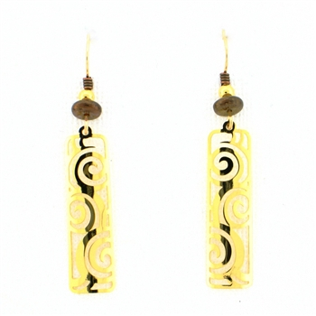 Adajio Gold Plated Filigree Earrings