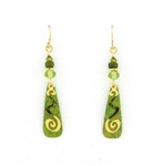 Adajio Multi Green & Spiral Earrings