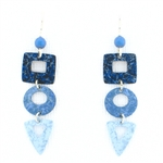 Adajio Three Part Open Denim Earrings
