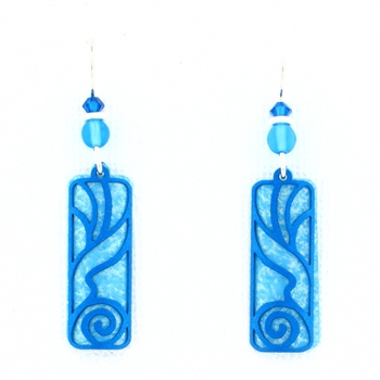 Adajio Azure Undersea Overlay Earrings