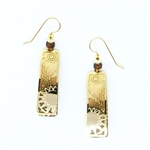 Adajio Gold & Tan Sun Etched Earrings