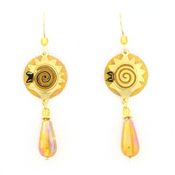 Adajio Gold Disc & Bead Earrings