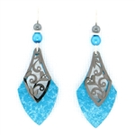 Adajio Aqua Necktie  Earrings