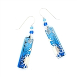 "Adajio Blue Two-Tone ""Sunrise"" Silver IR Overlay Earrings"