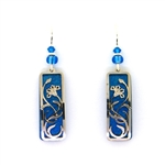 Adajio Blue and Silver Vine Earrings